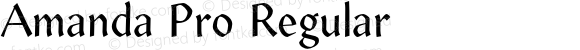 Amanda Pro Regular Version 1.00; 2007