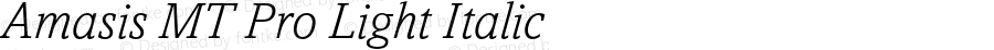 Amasis MT Pro Light Italic Version 1.003