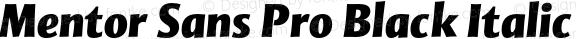 Mentor Sans Pro Black Italic Version 1.002;PS 001.000;Core 1.0.38;makeotf.lib1.6.5960