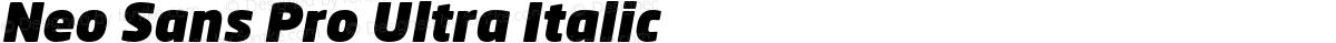 Neo Sans Pro Ultra Italic