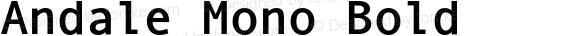 Andale Mono Bold Version 2.01
