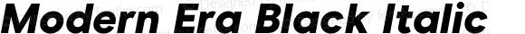 Modern Era Black Italic