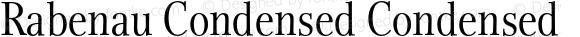 Rabenau Condensed Condensed