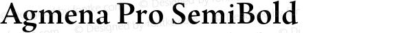 Agmena Pro SemiBold Version 1.00;com.myfonts.linotype.agmena.semi-bold.wfkit2.3Xen