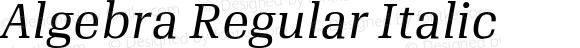 Algebra Regular Italic