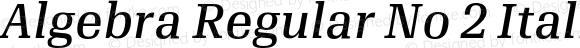 Algebra Regular No 2 Italic