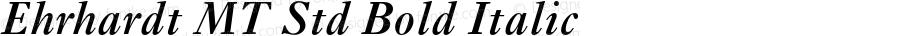 Ehrhardt MT Std Bold Italic Version 1.004;PS 001.005;Core 1.0.38;makeotf.lib1.6.5960