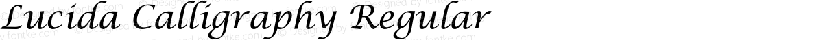 Lucida Calligraphy Regular