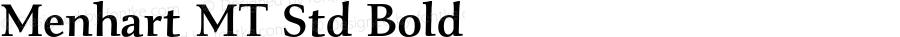 Menhart MT Std Bold Version 1.000;PS 001.000;hotconv 1.0.38