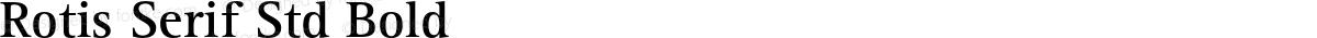 Rotis Serif Std Bold