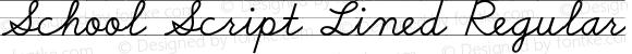 School Script Lined