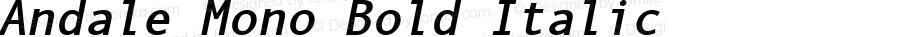 Andale Mono Bold Italic Version 2.01