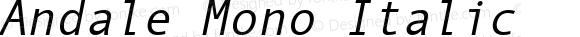 Andale Mono Italic Version 2.01
