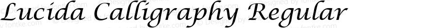 Lucida Calligraphy Regular Version 1.00