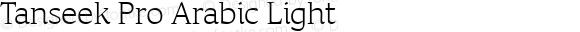 Tanseek Pro Arabic Light