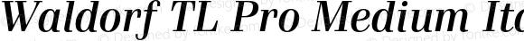 Waldorf TL Pro Medium Italic