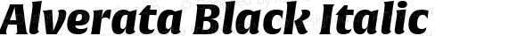 Alverata Black Italic Version 1.001