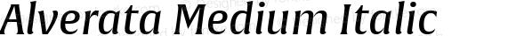 Alverata Medium Italic Version 1.001