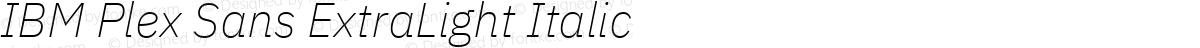 IBM Plex Sans ExtraLight Italic