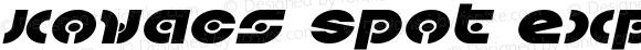 Kovacs Spot Expanded Italic Expanded Italic