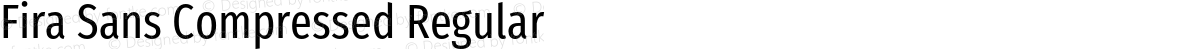 Fira Sans Compressed Regular