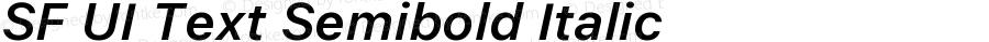 SF UI Text Semibold Italic