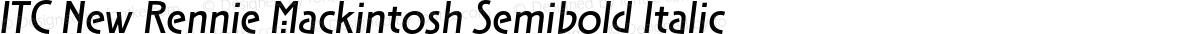 ITC New Rennie Mackintosh Semibold Italic