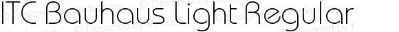 ITC Bauhaus Light Regular