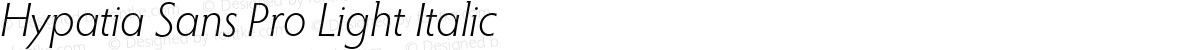 Hypatia Sans Pro Light Italic