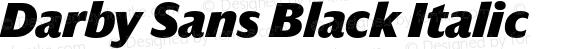 Darby Sans Black Italic