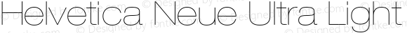 Helvetica Neue Ultra Light Oblique