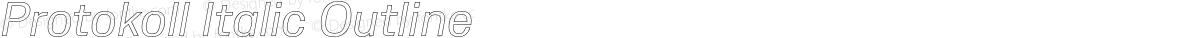 Protokoll Italic Outline
