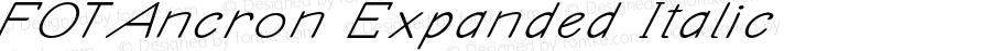 FOTAncron Expanded Italic Version 1.000