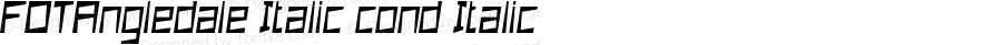 FOTAngledale Italic cond Italic Version 1.000