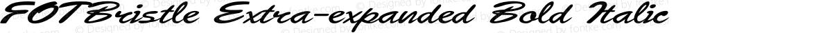 FOTBristle Extra-expanded Bold Italic