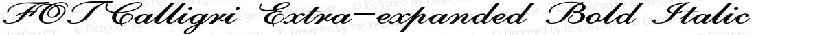 FOTCalligri Extra-expanded Bold Italic