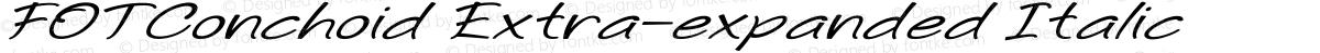 FOTConchoid Extra-expanded Italic