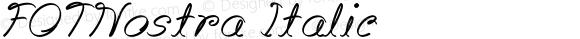 FOTNostra Italic Version 1.000