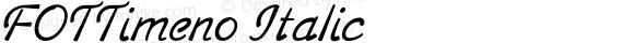 FOTTimeno Italic Version 1.000