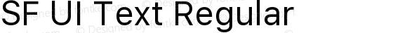 SF UI Text Regular