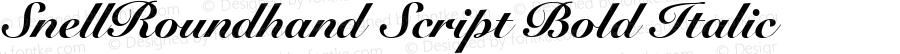 SnellRoundhand Script Bold Italic V.1.0