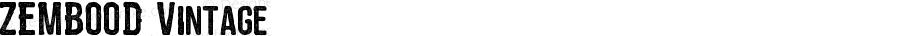 ZEMBOOD Vintage Version 1.00;April 10, 2018;FontCreator 11.5.0.2422 64-bit