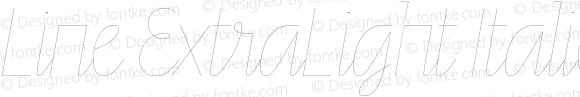 Line ExtraLight Italic
