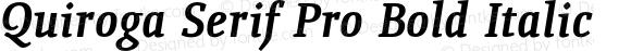 Quiroga Serif Pro Bold Italic