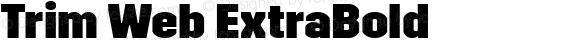 Trim Web ExtraBold
