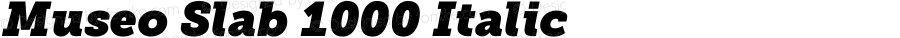 Museo Slab 1000 Italic Version 1.071; Fonts for Free; vk.com/fontsforfree