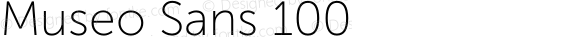Museo Sans 100 Version 1.000; Fonts for Free; vk.com/fontsforfree