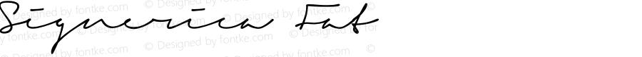 Signerica Fat Version 1.000; Fonts for Free; vk.com/fontsforfree