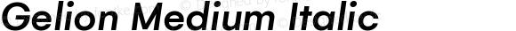 Gelion Medium Italic