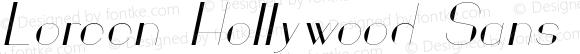 Loreen Hollywood Sans